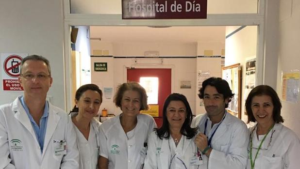 Parte del equipo del Hospital de Día de Diabetes del Virgen del Rocío