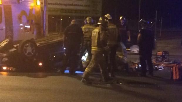 Imagen de un accidente en Sevilla
