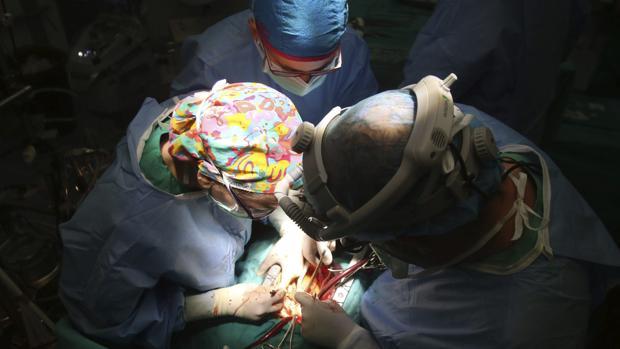 Operación de trasplante
