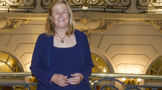 Elisalex Löwenstein, ayer en la entrega a Mary's Meals del premio de la Fundación Mapfre