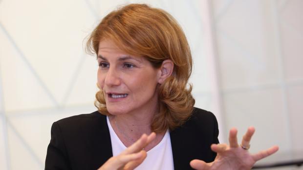 Fuencisla Clemares, directora general de Google, durante la entrevista